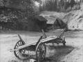 Virkesvagn vid sågen